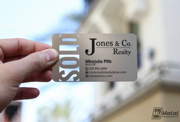 Real-Estate-Metal-Business-Card