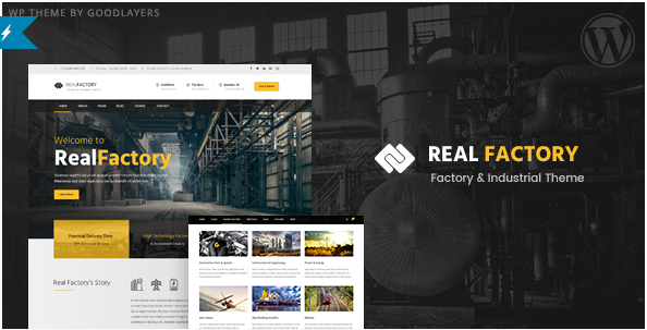 Real Factory - Construction WordPress Theme