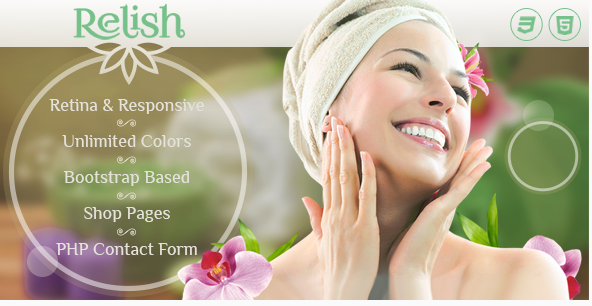 Relish - Spa Salon HTML Template