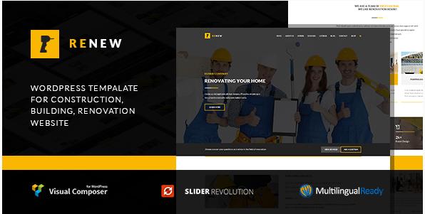 Renew - Building, Renovation & Construction WordPress Theme