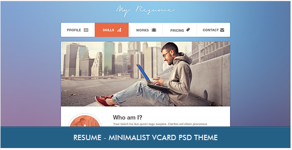 Best Resume and vCard PSD templates