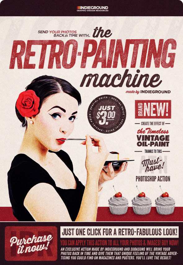 Retro Painting Machine