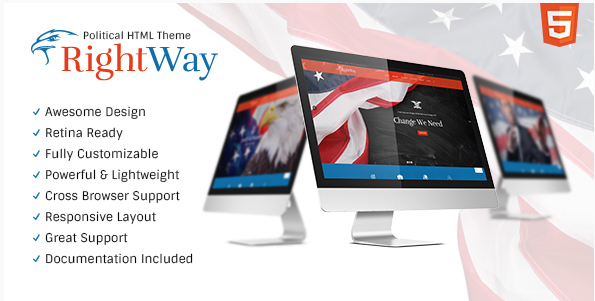 Right Way: Top Political HTML Templates