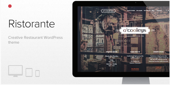Ristorante - Creative Restaurant WordPress Theme