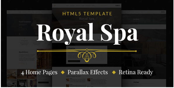 Royal Spa — Luxury Hotel & Spa HTML5 Template