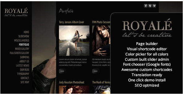 Royale' Creative WordPress Theme