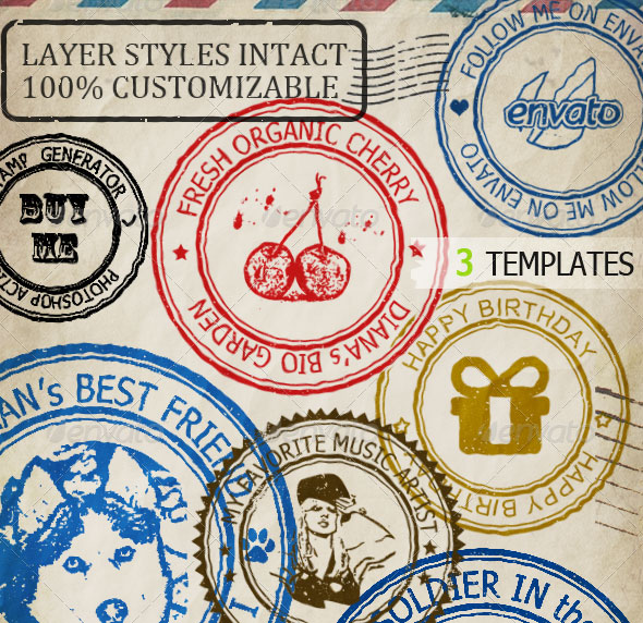 Rubber Stamp Generator Photoshop Action