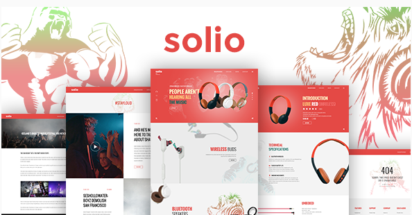 SOLIO - Music Brand Headset PSD Template