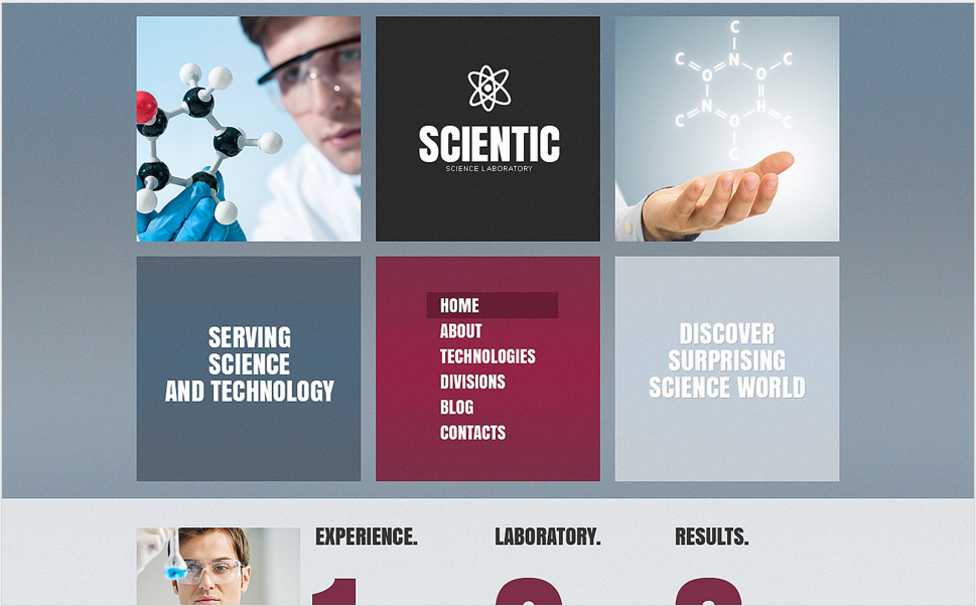 Science Lab Drupal Template
