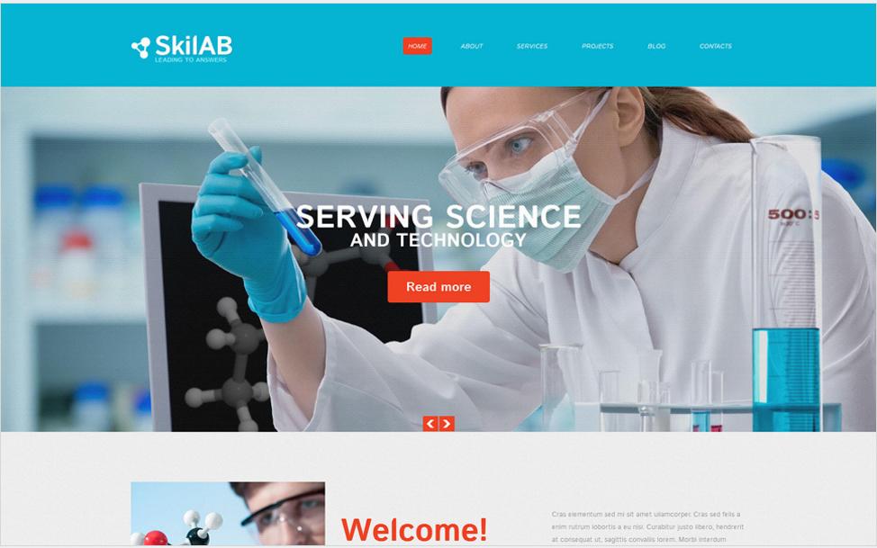 Science Lab Responsive Drupal Template