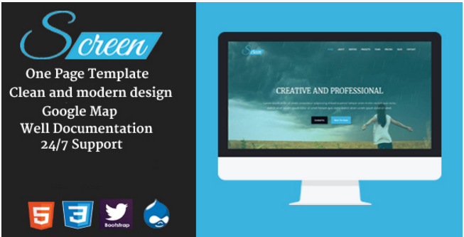 Screen - Onepage Creative Drupal Theme