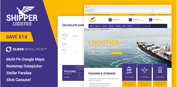 Shipper Logistic - Transportation HTML Template