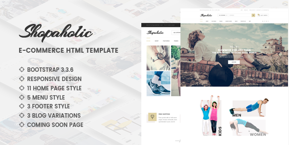 Shopaholic - Responsive Multipurpose eCommerce HTML5 Template