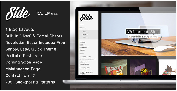 Side - Full Width Creative WordPress Theme