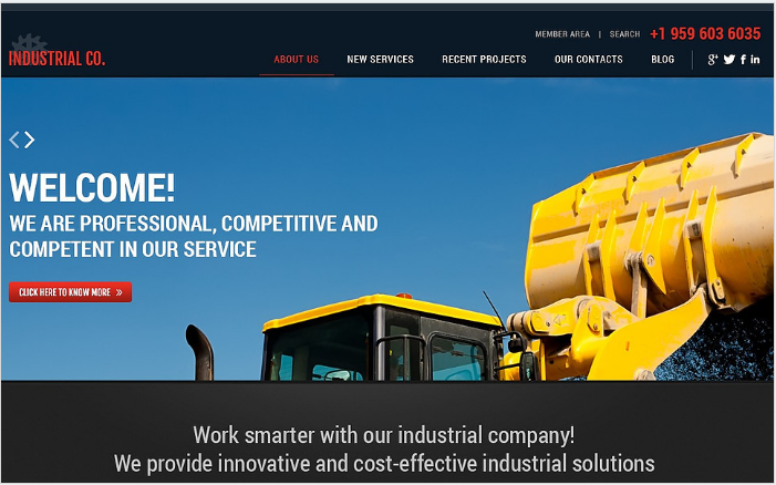 Simple Industrial WordPress Theme