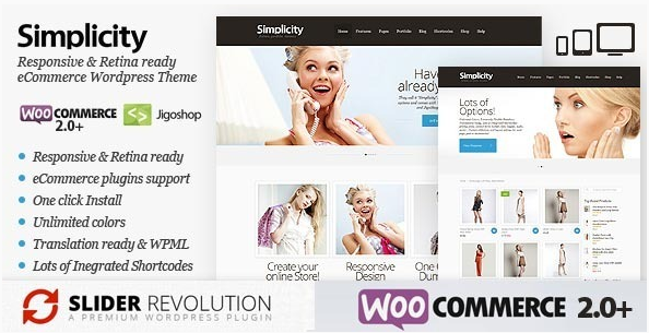 Simplicity - eCommerce Responsive WordPress Theme