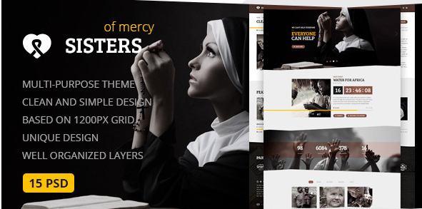 Sisters of Mercy — Nonprofit PSD Template