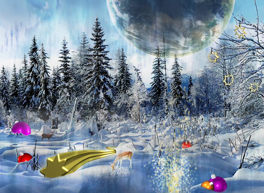 Snow-World-Wallpaper-Design
