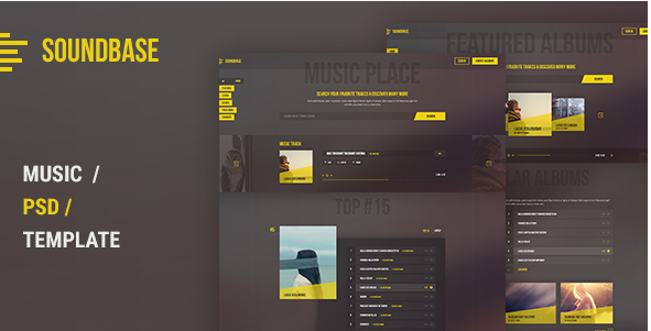 Soundbase PSD Template