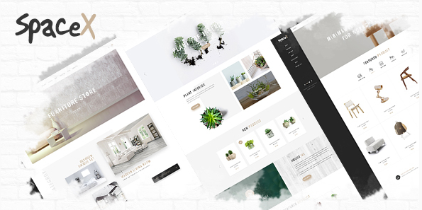 SpaceX Architecture and Interior Design Agency PSD Template