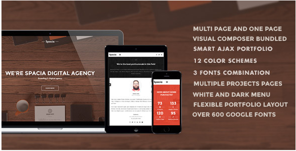 Spacia Creative WordPress Theme.
