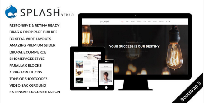 Splash - MultiPurpose, Creative Drupal Theme