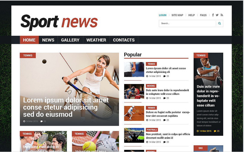 Sports News Responsive Joomla Template