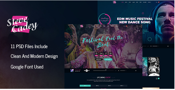 Best Music PSD Templates