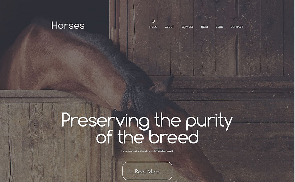 Stud Farm Drupal Template