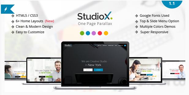 StudioX - One Page Parallax
