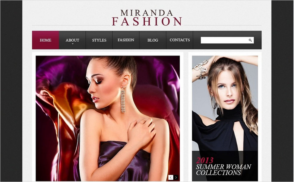 Stylish Fashion Drupal Template