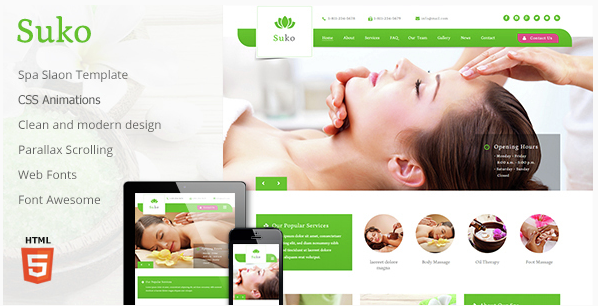 Suko - Spa Salon Responsive Template