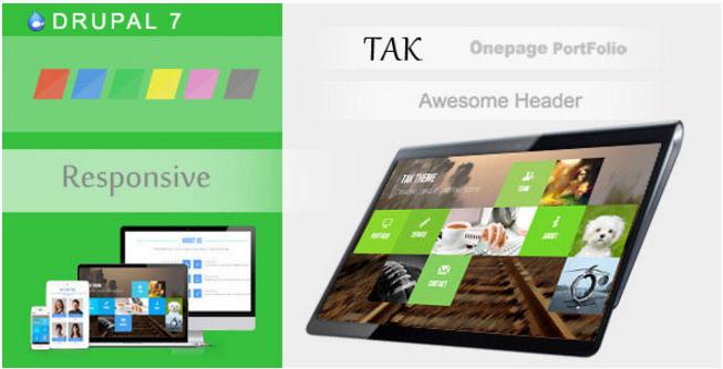 TAK - Responsive Onepage Portfolio Drupal