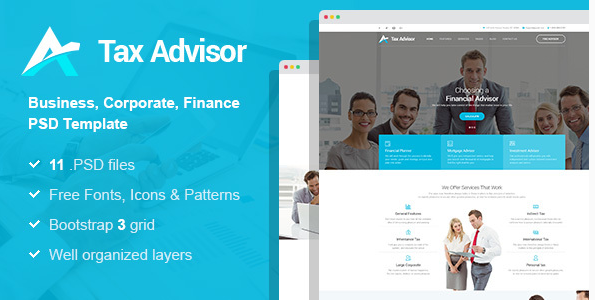 Tax Adviser - Financial Consulting Attorney PSD Template