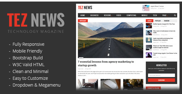 TezNews MagazineNews HTML5 Template