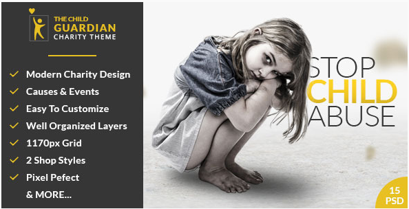 The Child Guardian - Charity PSD Template