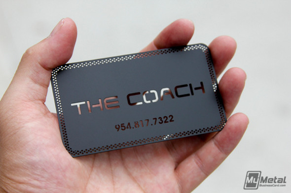 The-Coach-Black-Metal-Business-Cards