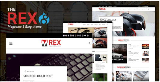 The REX - Drupal 8 Magazine and Blog Theme