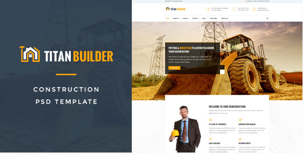 Titan Builders Construction PSD Template