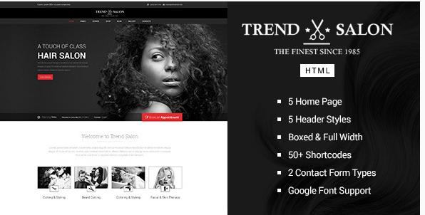 Trend Salon - HTML Salon Template
