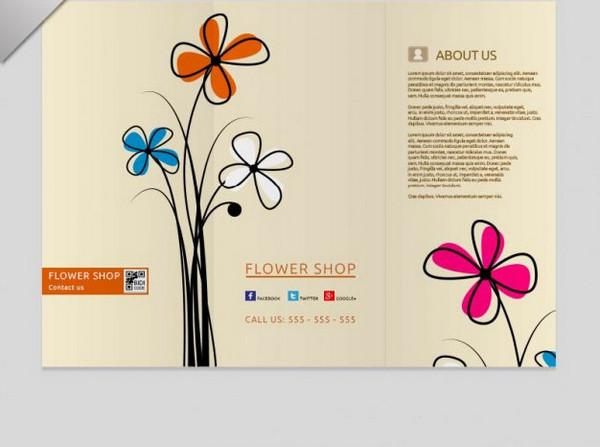 Tri Fold Floral Brochure