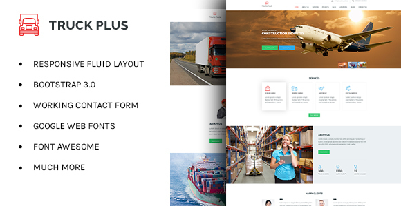 Truck Plus - Transportation and Logistics HTML Template