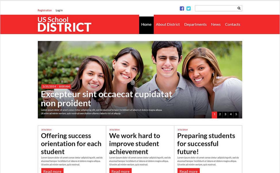 US School District Website Joomla Template
