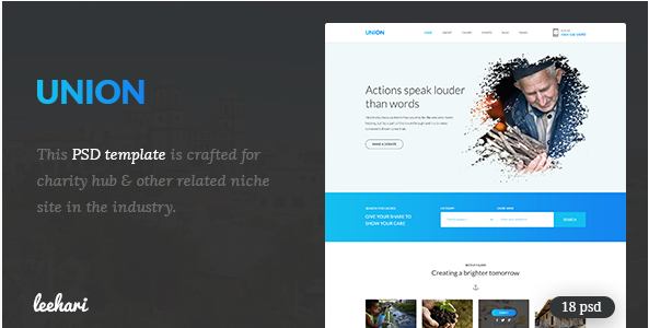 Union - Charity PSD Template