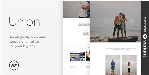 Union - Wedding Template with Page Builder