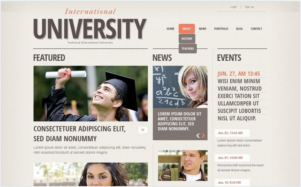 University Drupal Template