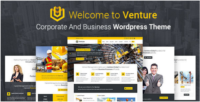 VENTURE - Corporate And Business WordPress Theme