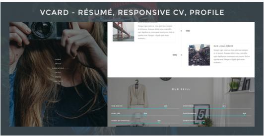 Vcard - Responsive CV WordPress Theme