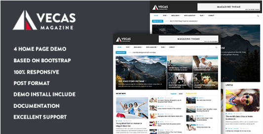 Vecas - Responsive Magazine News Drupal Theme