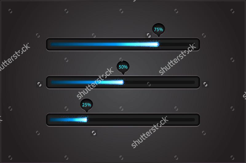 Vector-Blue-Progress-Bar-Designs